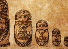 Russian wooden doll - Matryoshka - Vintage Stock Image