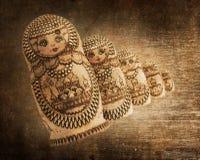 Russian wooden doll - Matryoshka - Vintage Stock Photography