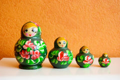 Russian wooden dolls Royalty Free Stock Photography