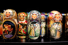Russian wooden dolls. Royalty Free Stock Photo