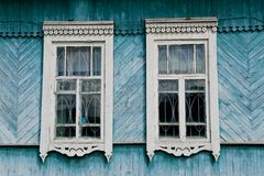 Russian wooden house Royalty Free Stock Photo