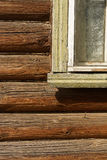 Russian wooden house. Royalty Free Stock Photography