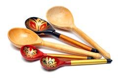 Russian wooden spoones Stock Image
