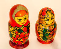 Russian wooden toy Matryoshka - multi family Stock Images