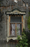 Russian Wooden Window royalty free stock images