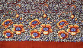 Russian wool fabric. Russian wool folk fabric detail Royalty Free Stock Images
