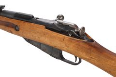 Russian ww1 period Mosin-Nagant rifle. Isolated on white Royalty Free Stock Image
