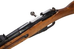 Russian ww1 period Mosin-Nagant rifle. Isolated on white Royalty Free Stock Photography
