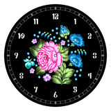 Russian Zhostovo clock face Stock Images