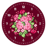 Russian Zhostovo clock face Royalty Free Stock Image