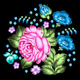 Russian Zhostovo floral ornament Royalty Free Stock Photography