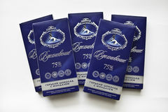 Russiandark czekoladowego baru inspiracja Zdjęcie Stock