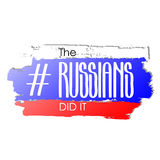 The russians did it royalty free illustration