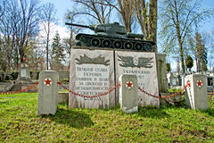 Russians heroes graveyard Stock Photography
