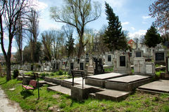 Russians heroes graveyard Stock Image