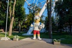 Russie ` De Zabivaka de ` de la FIFA de symbole à Rostov-On-Don 1er juillet 2018 Photographie stock