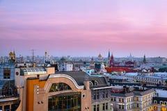 Russie moscou Vue panoramique de Moscou image stock