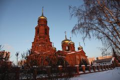 Russie République de la Mordovie, l'église de Saint-Nicolas à Saransk image libre de droits