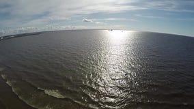 Russie St Petersburg Kronshtadt La côte du golfe de Finlande près du ` du ` SHANETS de fort clips vidéos