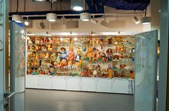 Russie Toy Museum dans le magasin central du ` s d'enfants 11 février 2018 Photos stock