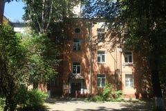 Russie Ville de Korolyov Promenade dans Kostino Vieux yard de maisons photographie stock libre de droits