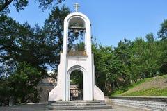 Russie Vladivostok, la tour de cloche de la chapelle du martyre saint Tatiana photos stock