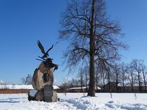 Russie Voyage vers la Russie centrale Kalyazin L'hiver Images stock