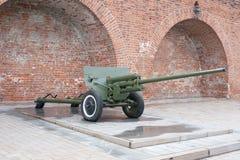 Russisch anti-tank regiment 57 mm-kanon van de Tweede Wereldoorlog Stock Foto