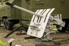 Russisch Antivliegtuigenkanon Stock Fotografie
