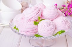 Russisch bessenheemst of zefir dessert royalty-vrije stock fotografie