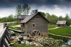 Russisch dorp Royalty-vrije Stock Afbeelding