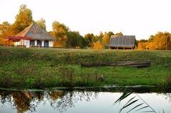 Russisch dorp, de uitgestrektheid van Rusland Stock Afbeelding