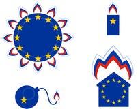 Russisch Gas in Europa Politiek Beeldverhaal Stock Fotografie