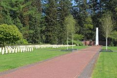 Russisch gebied van eer bij begraafplaats in Leusden royalty-vrije stock foto's