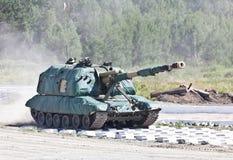 Russisch Gemotoriseerd kanon Royalty-vrije Stock Afbeelding
