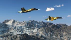 Russisch gevechtsvliegtuig s-34 Stock Foto's