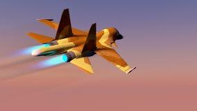 Russisch gevechtsvliegtuig s-34 Stock Fotografie