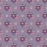 Russisch het symbool naadloos patroon van de theepot Royalty-vrije Stock Fotografie