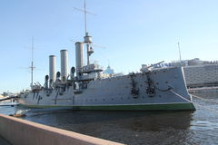 Russisch historisch oorlogsschip Stock Afbeeldingen