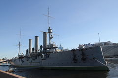 Russisch historisch oorlogsschip Stock Foto's