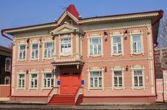 Russisch huis Royalty-vrije Stock Foto