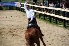 Russisch kampioenschap in truc het berijden Stock Foto