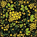 Russisch khokhloma het schilderen stijl naadloos patroon Stock Fotografie