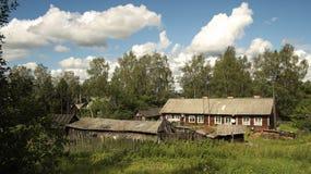 Russisch landelijk huis. Stock Foto's