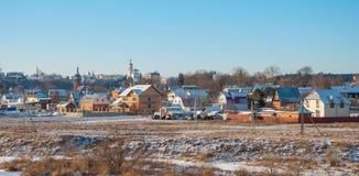 Russisch landelijk landschap stock fotografie