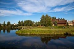 Russisch landschap Stock Foto's