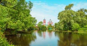 Russisch landschap stock afbeeldingen
