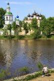 Russisch landschap in duidelijke dag Stock Fotografie