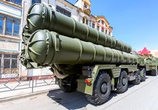 Russisch luchtafweerraketsysteem SAM s-300 royalty-vrije stock foto's