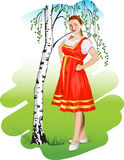 Russisch meisje Stock Fotografie